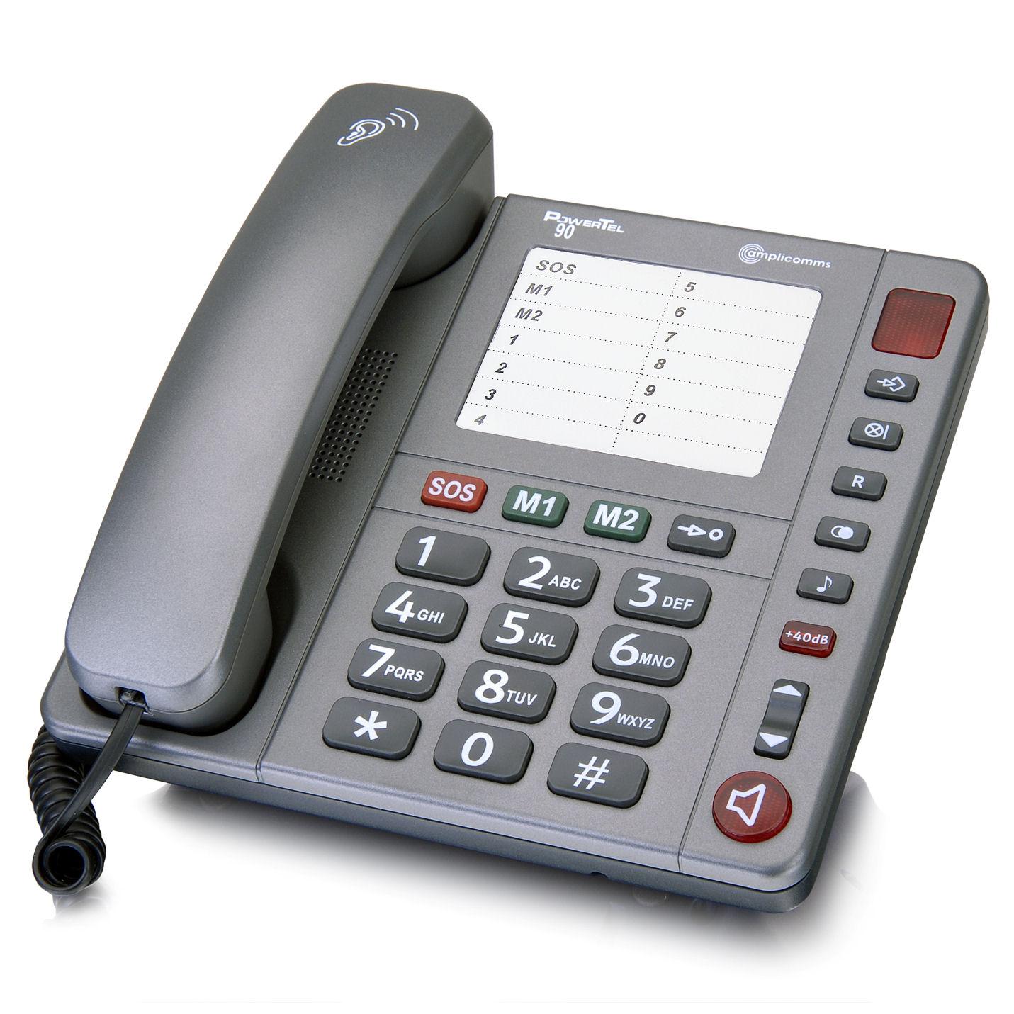 t l phone amplifi grosses touches amplicomms powertel 90. Black Bedroom Furniture Sets. Home Design Ideas
